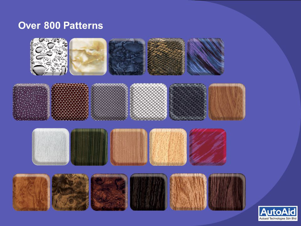 Over 800 Patterns