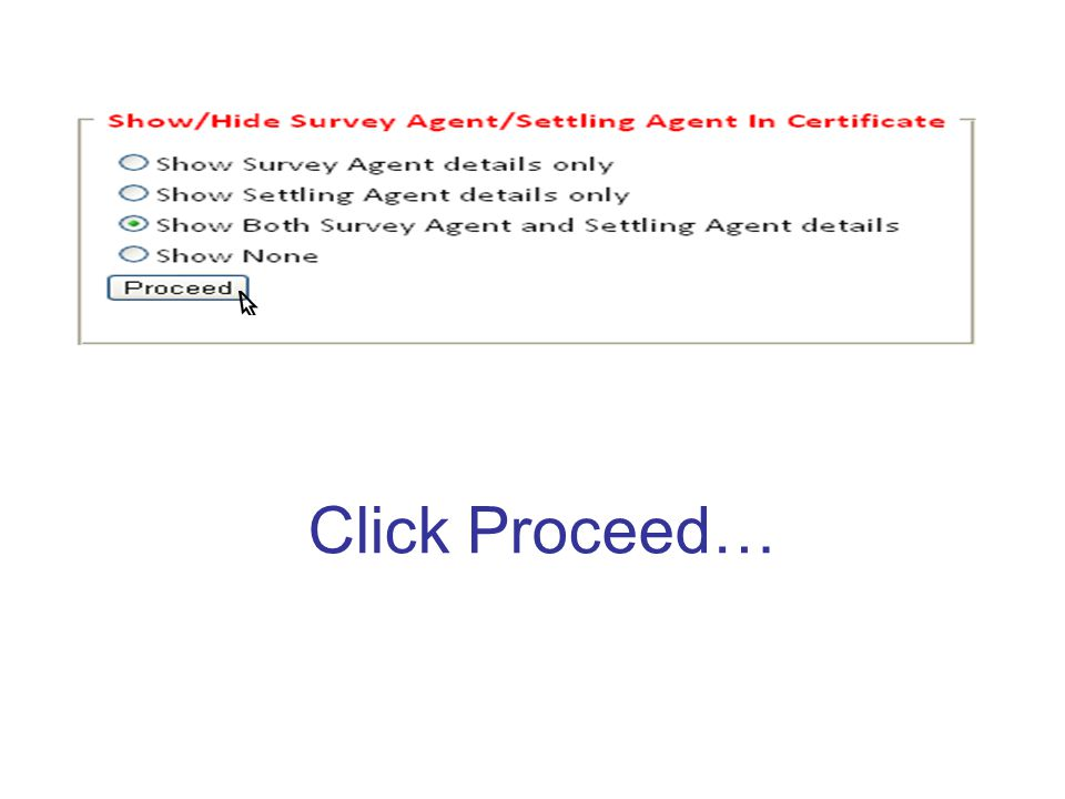 Click Proceed…