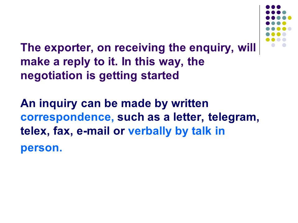 Section One: Introduction ( P46 ) What is an enquiry.