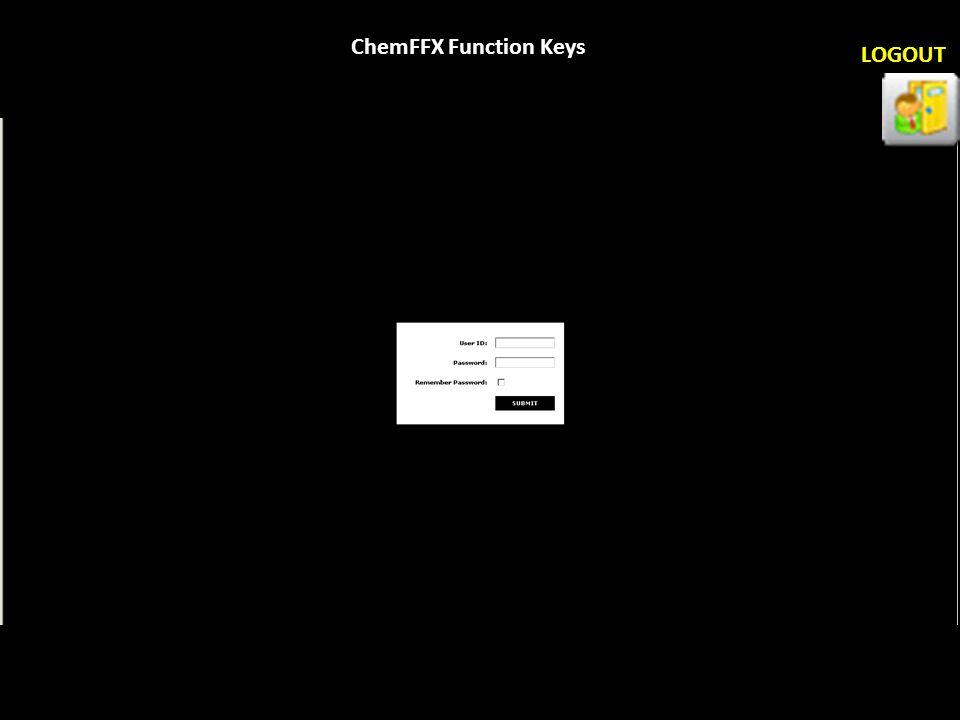 ChemFFX Function Keys LOGOUT