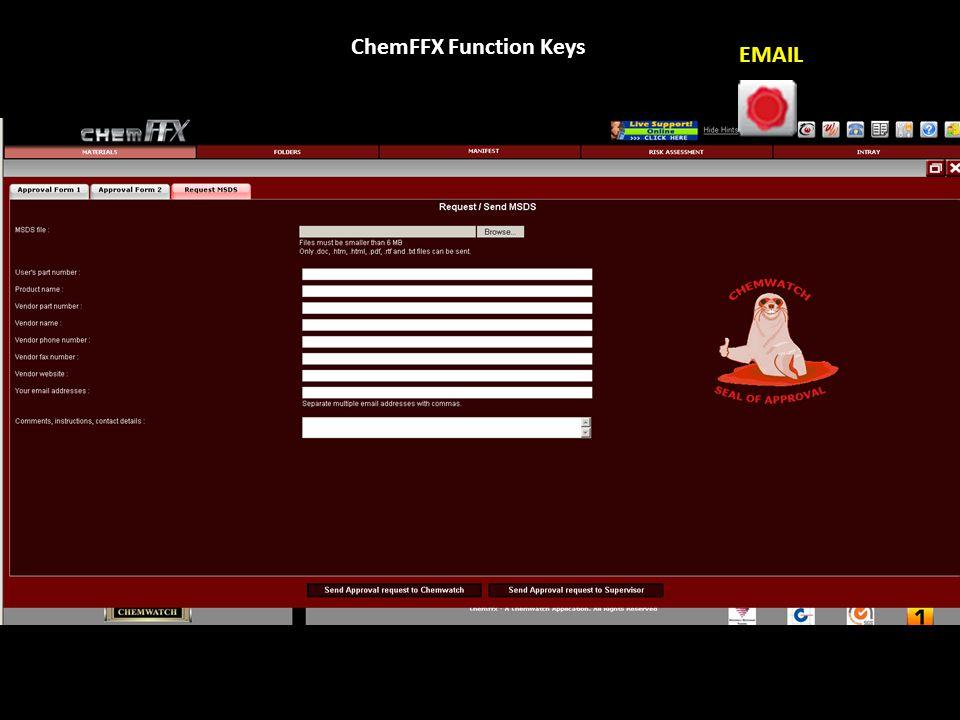 ChemFFX Function Keys CHEMWATCHER