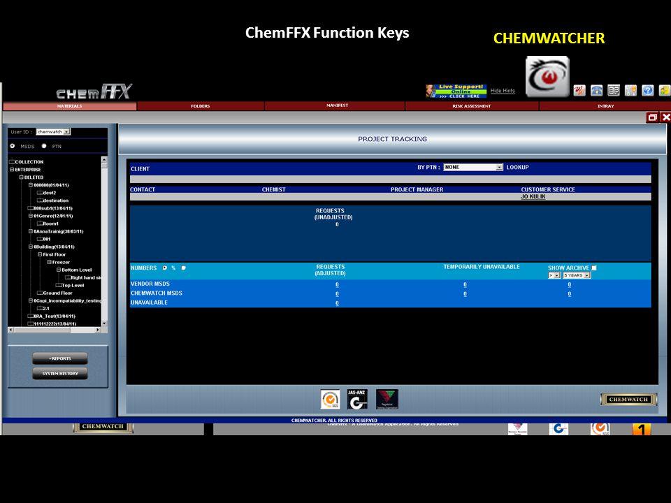 ChemFFX Function Keys WIKI WATCH