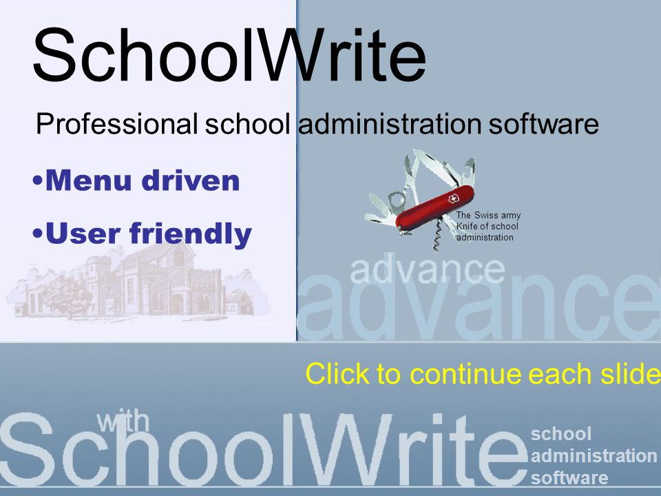 school administration software Notifications by SMS & email Email / SMS to student groups Quick-send one-off email / SMS from Student Details screen.