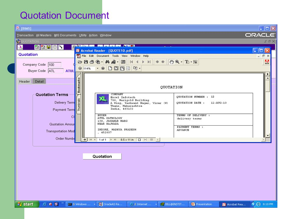 Quotation Document