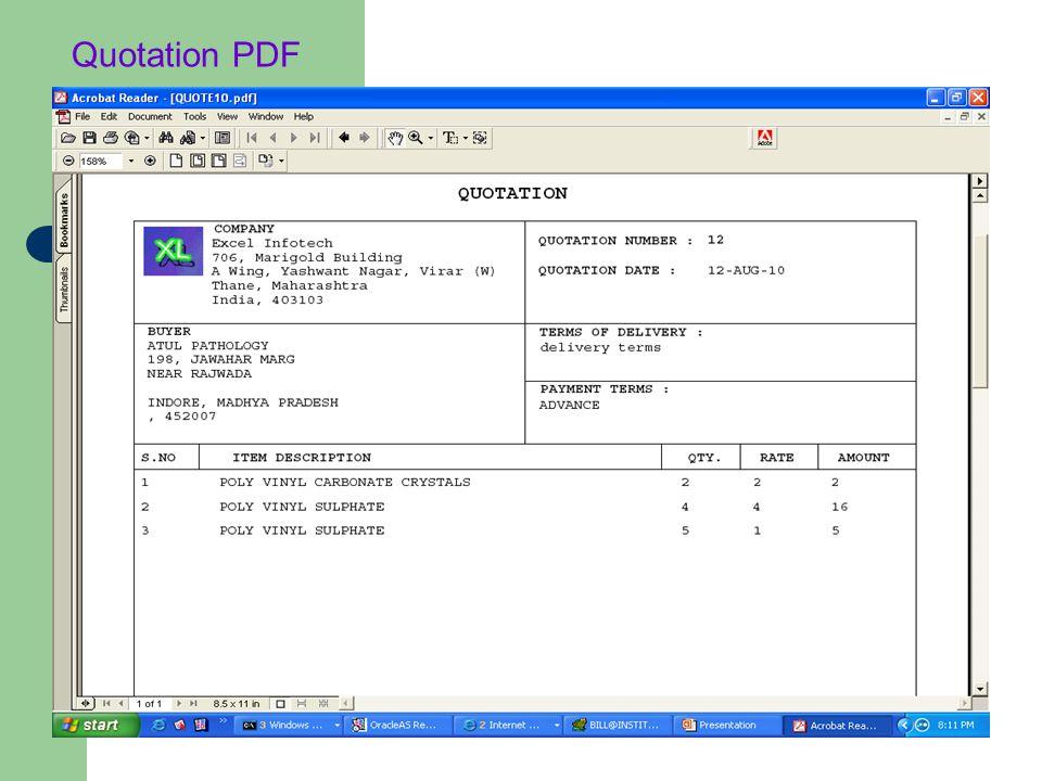 Quotation PDF