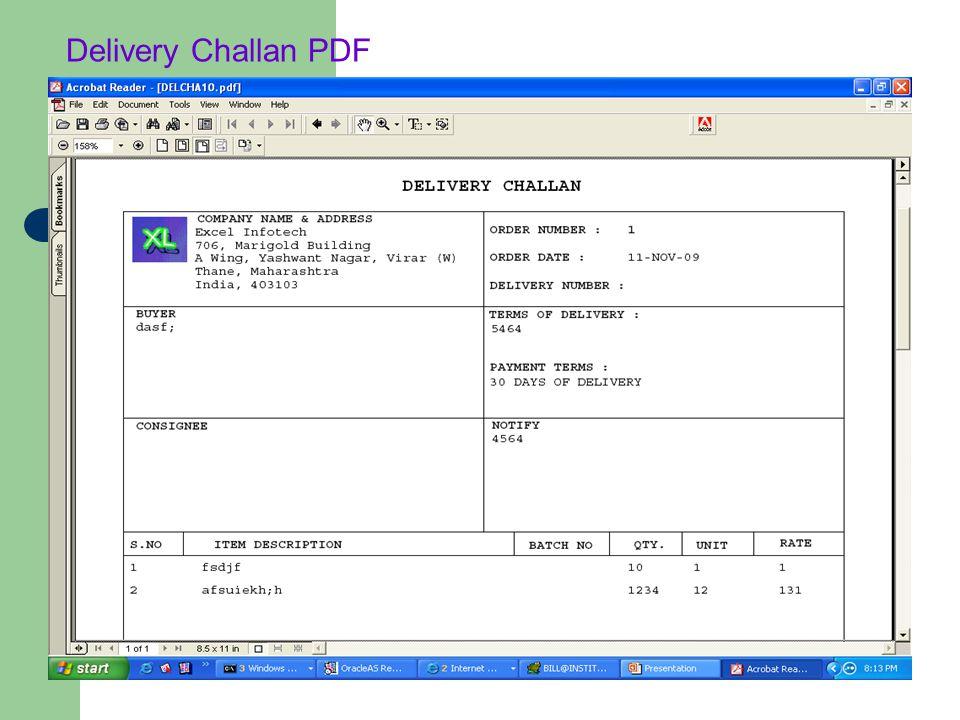 Delivery Challan PDF