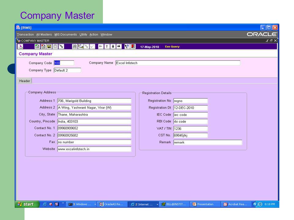 Company Master