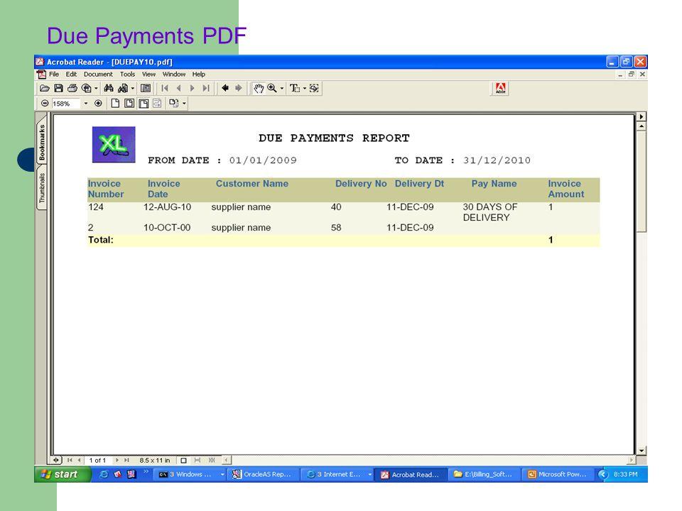Due Payments PDF