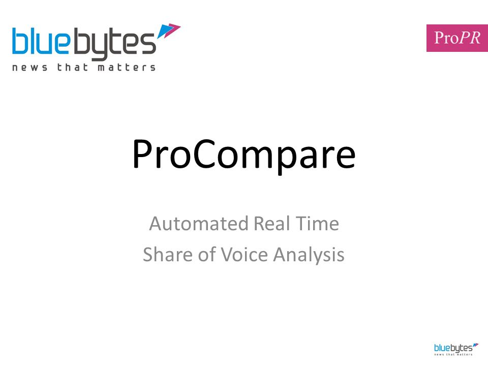 ProCompare Automated Real Time Share of Voice Analysis