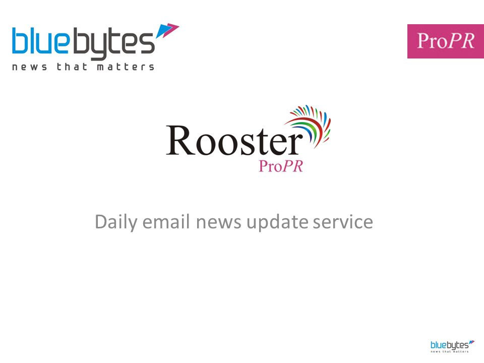 Daily email news update service