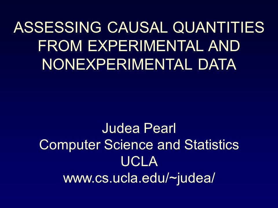 IDENTIFIABILITY FROM EXPERIMENTS Definition: Let Q(M) be any quantity defined on a causal model M, let M exp be a modification of M induced by some experiment, exp, and let Y be a set of variables observed under exp.