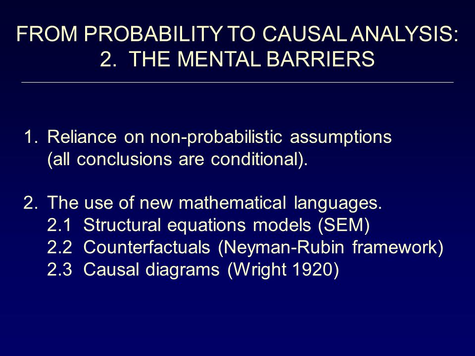 WHAT S IN A CAUSAL MODEL.