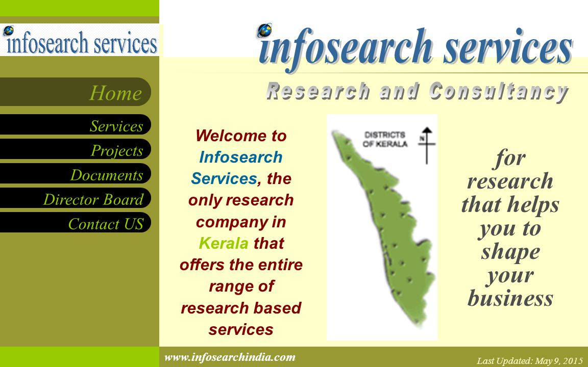 Projects Documents Director Board Contact US Services Home www.infosearchindia.com Project Manager Details Project Documents Schedule Project Manager Name (add an email hyperlink) Any relevant information about the project can go here.