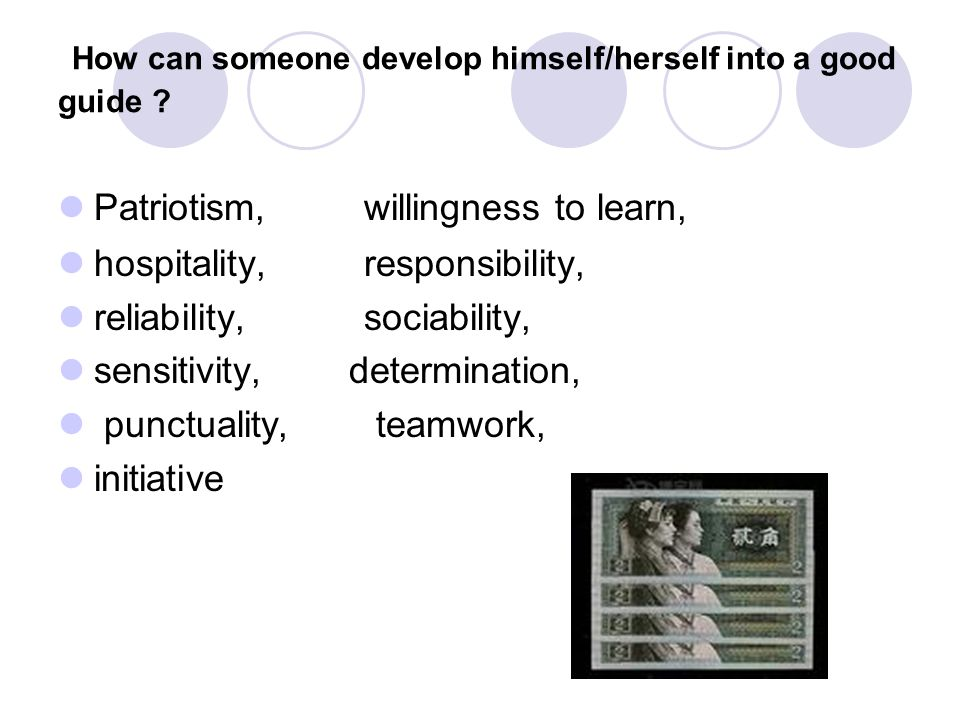 How can someone develop himself/herself into a good guide .