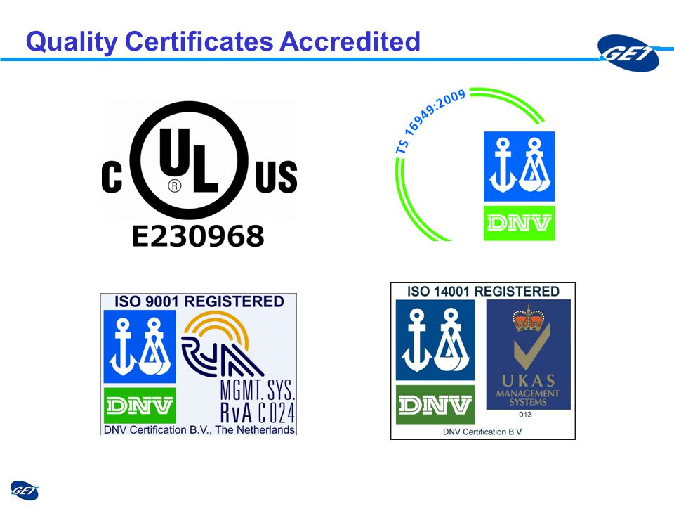 Quality Certificates Accredited