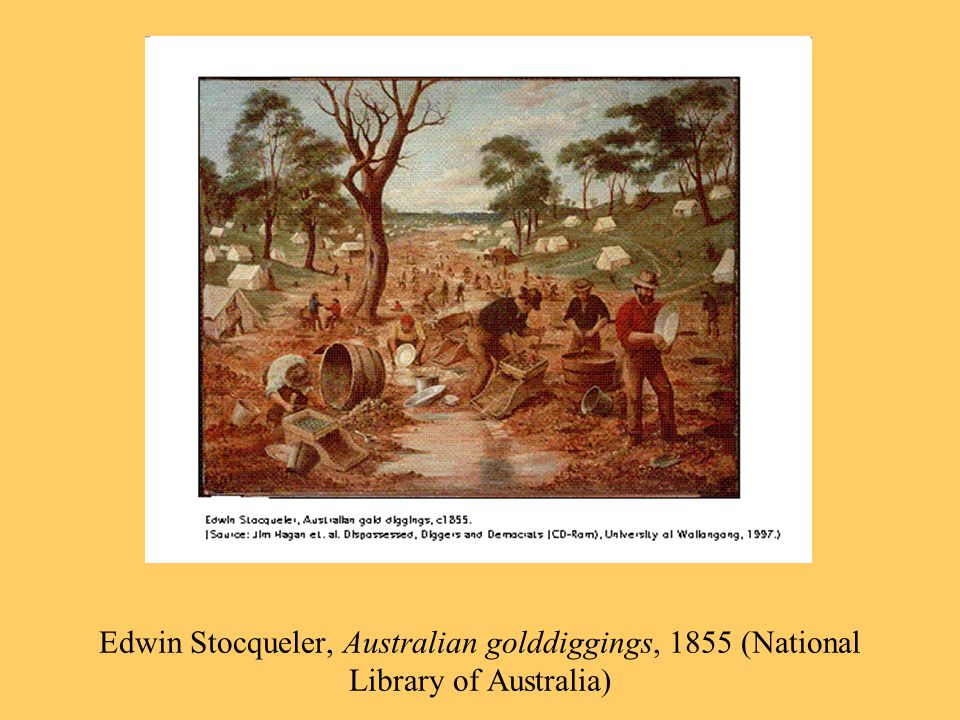 Edwin Stocqueler, Australian golddiggings, 1855 (National Library of Australia)