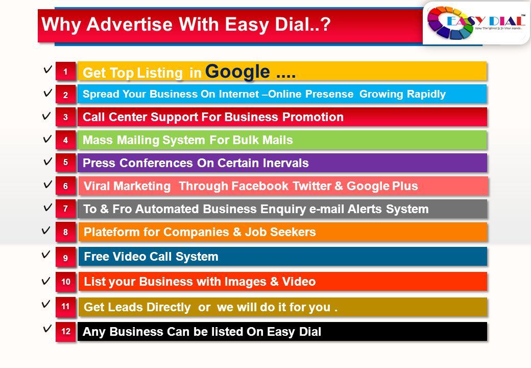 Get Top Listing in Google....