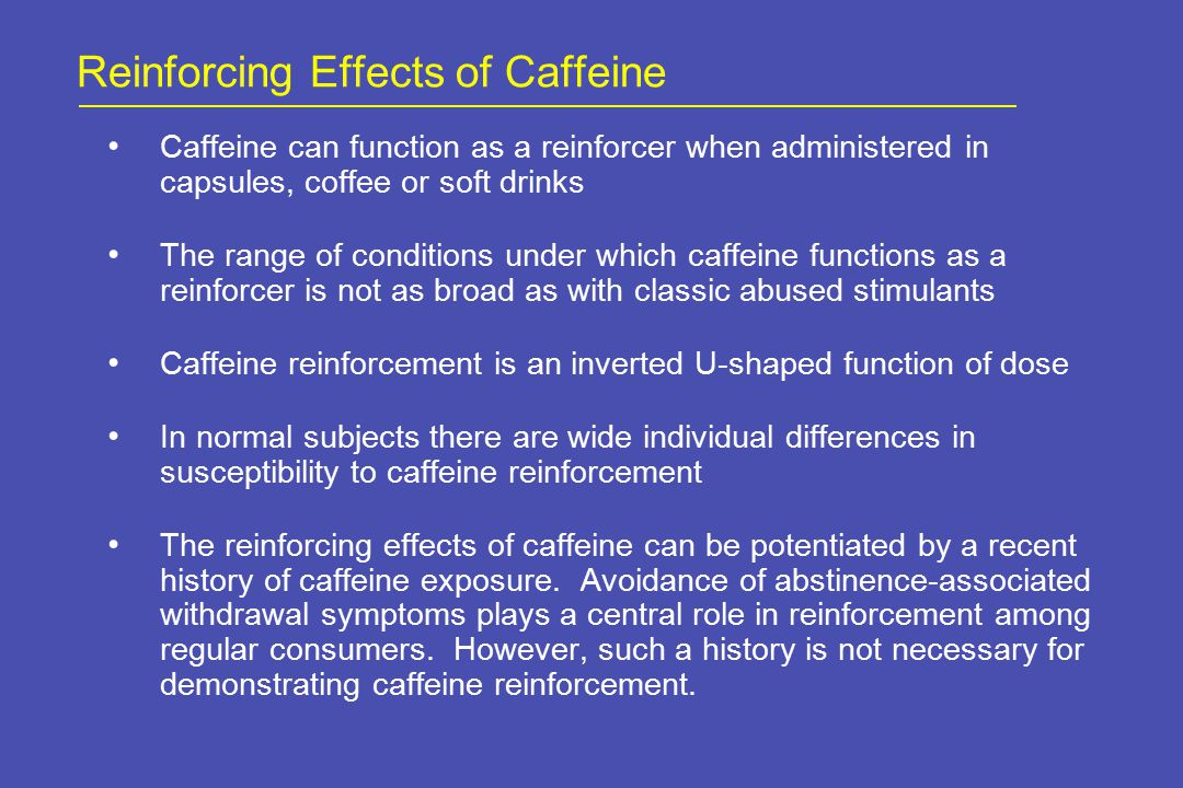 Method Adult caffeine users were recruited from the community using advertisements and invited to participate in a treatment program for Caffeine Dependence.