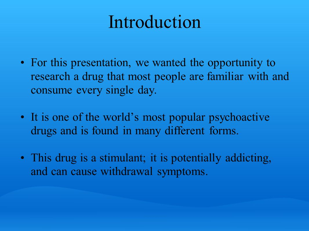 Can you guess, which drug this is?