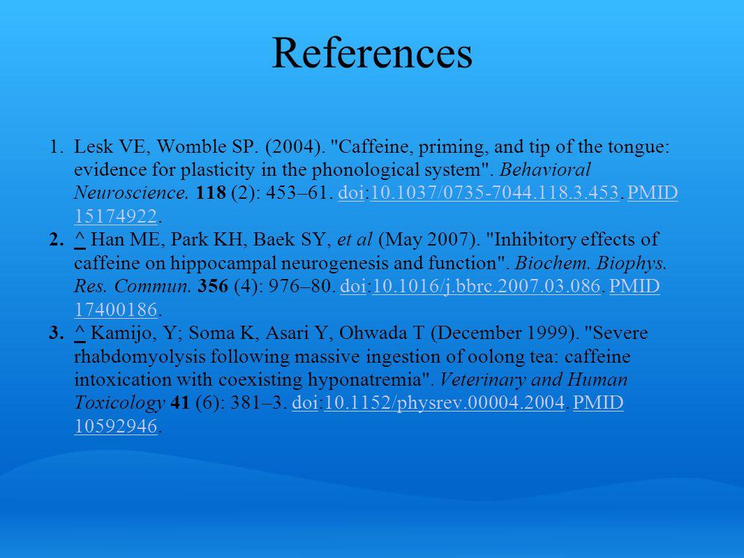 References 1.Lesk VE, Womble SP. (2004).