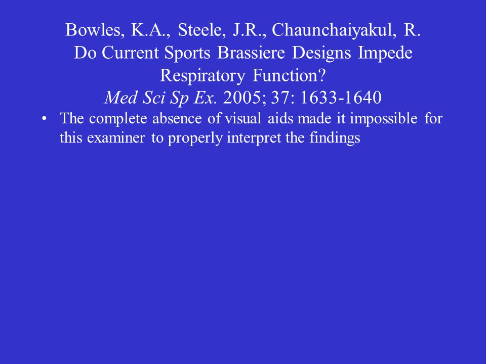 Bowles, K.A., Steele, J.R., Chaunchaiyakul, R.