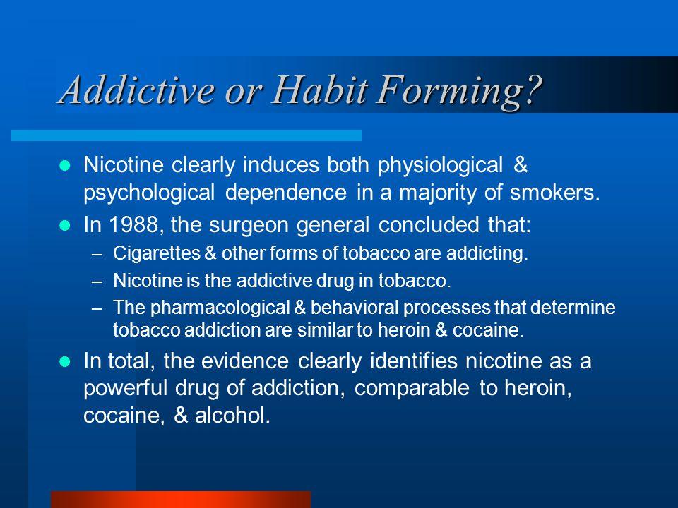 Addictive or Habit Forming.