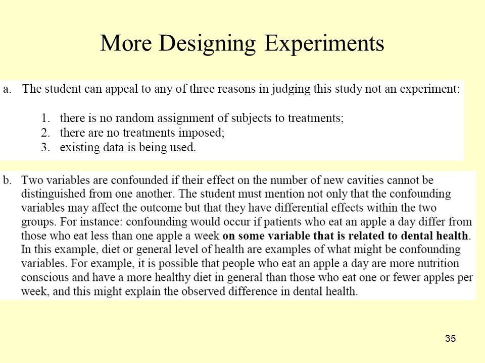 35 More Designing Experiments