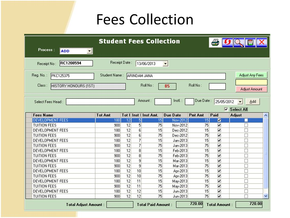 Fees Collection