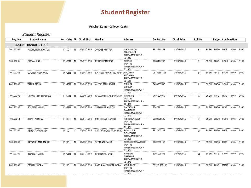 Student Register