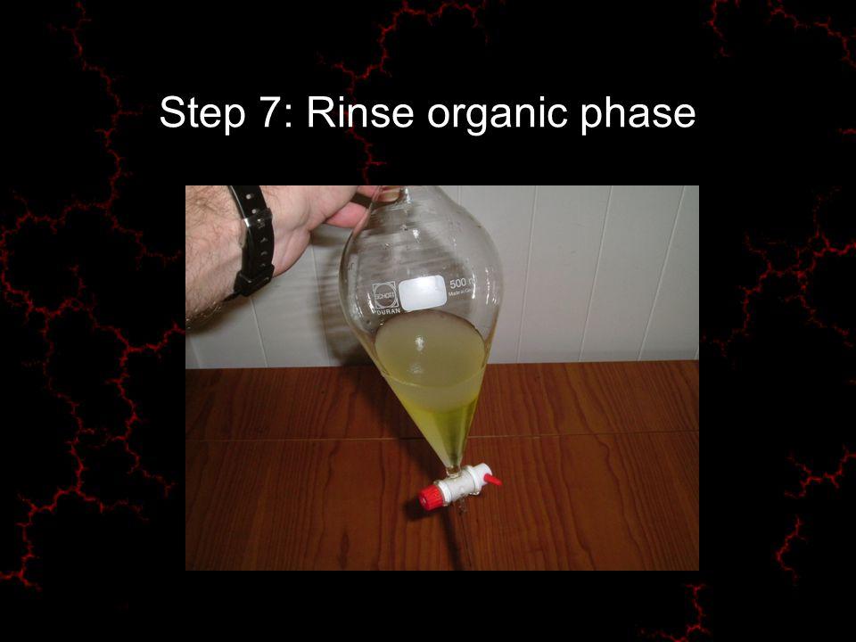 Step 7: Rinse organic phase