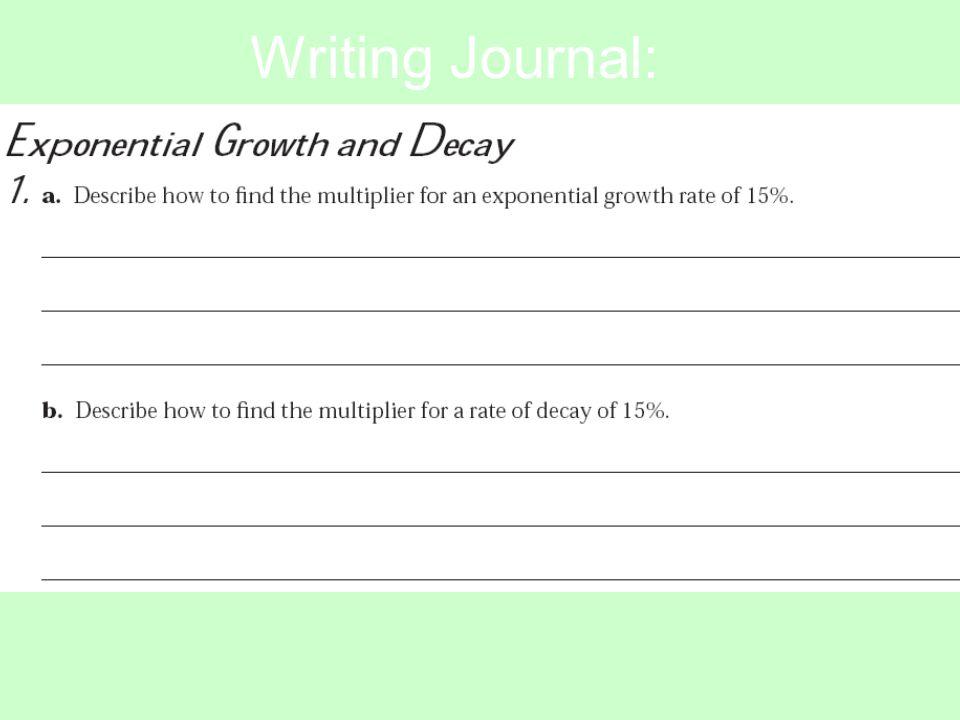 Writing Journal: