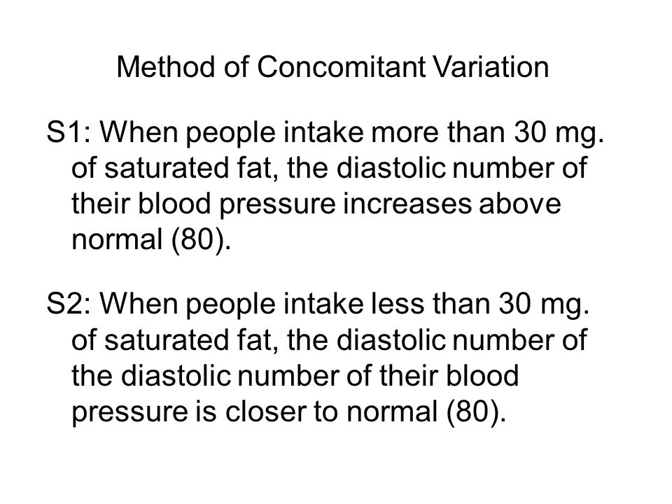 Method of Concomitant Variation S1: When people intake more than 30 mg.