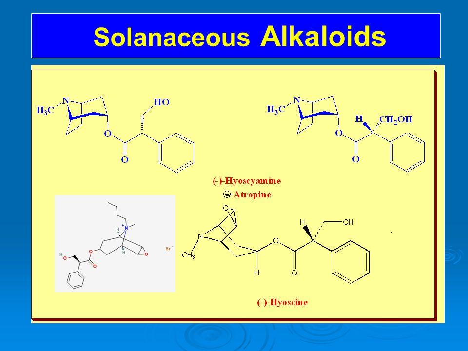 Solanaceous Alkaloids