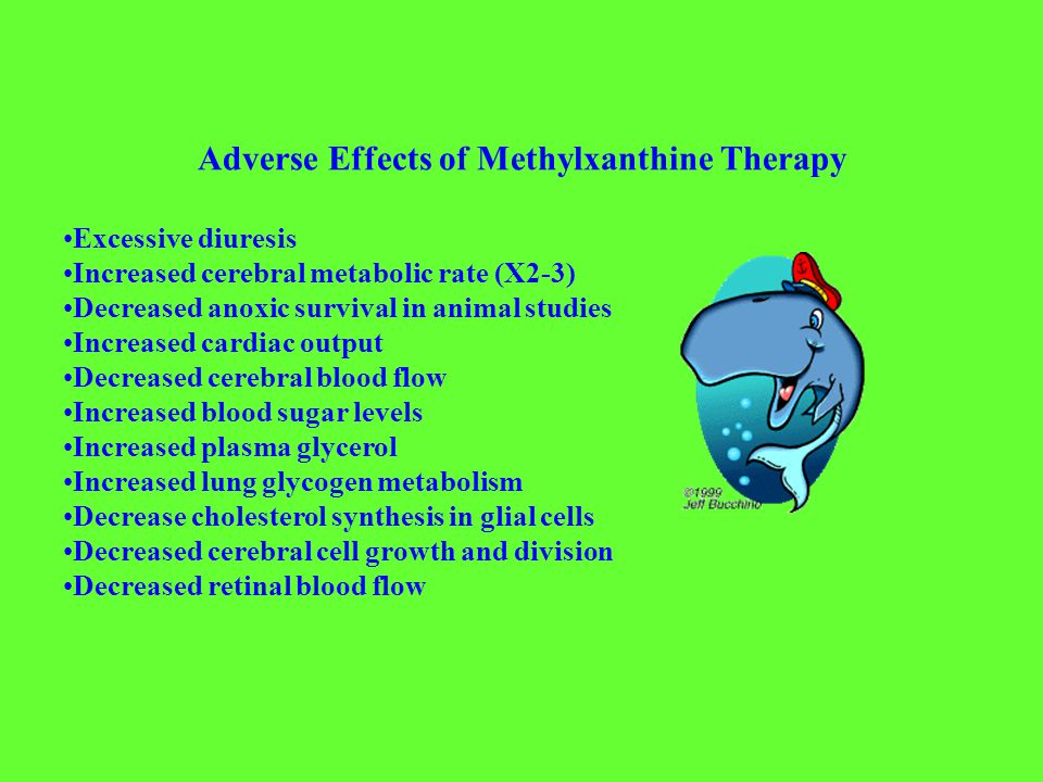 Methylxanthine Dosing Guidelines Caffeine: 10mg/kg IV or PO loading dose of caffeine base (20mg/kg caffeine citrate) of 20 mg/mL solution, then 2.5 mg/kg in one daily dose.