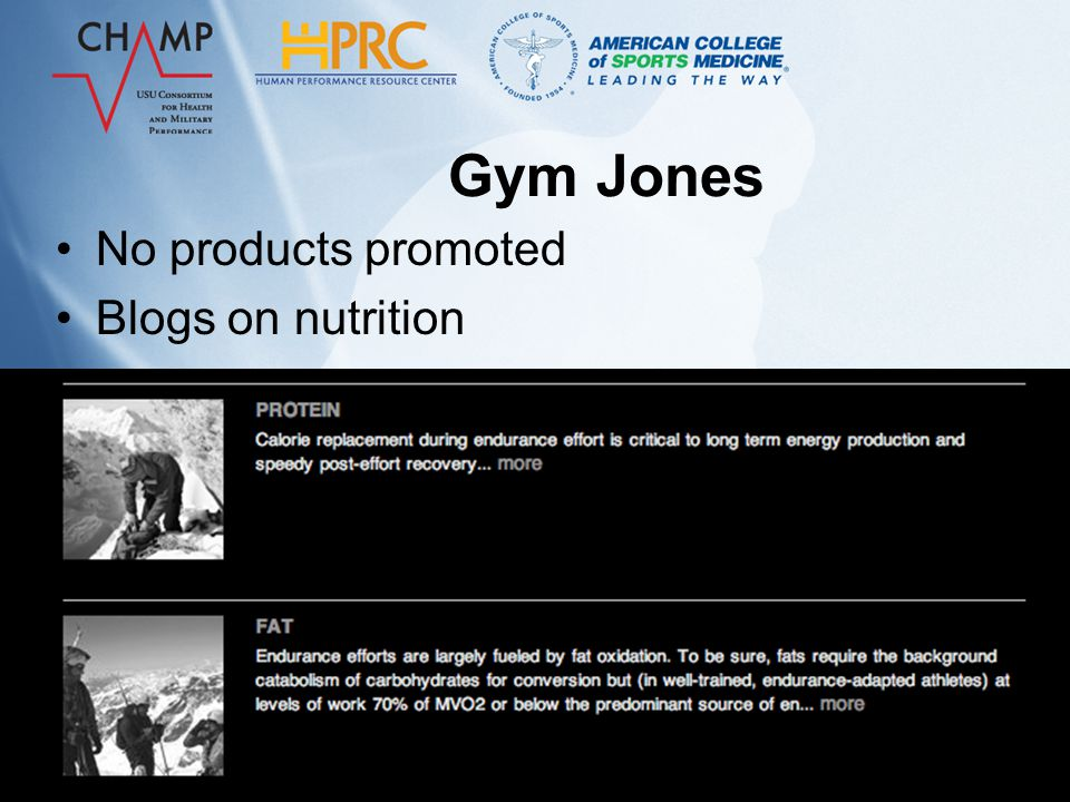 Gym Jones Drink solution containing 88-90% carbs and 10-12% protein –Several supplements on the market that fit this profile.