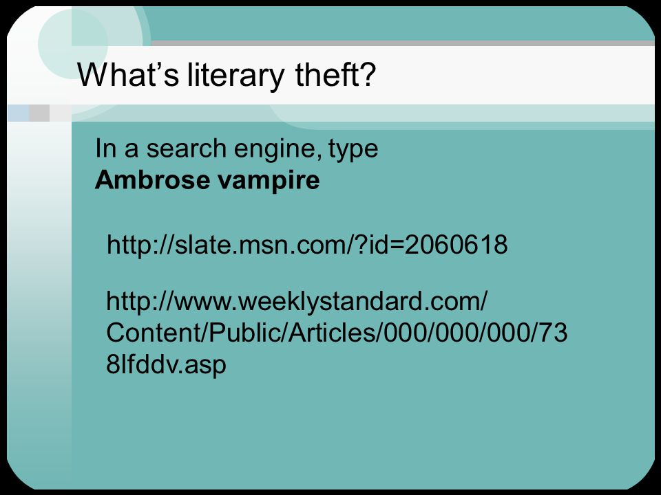 What's literary theft.