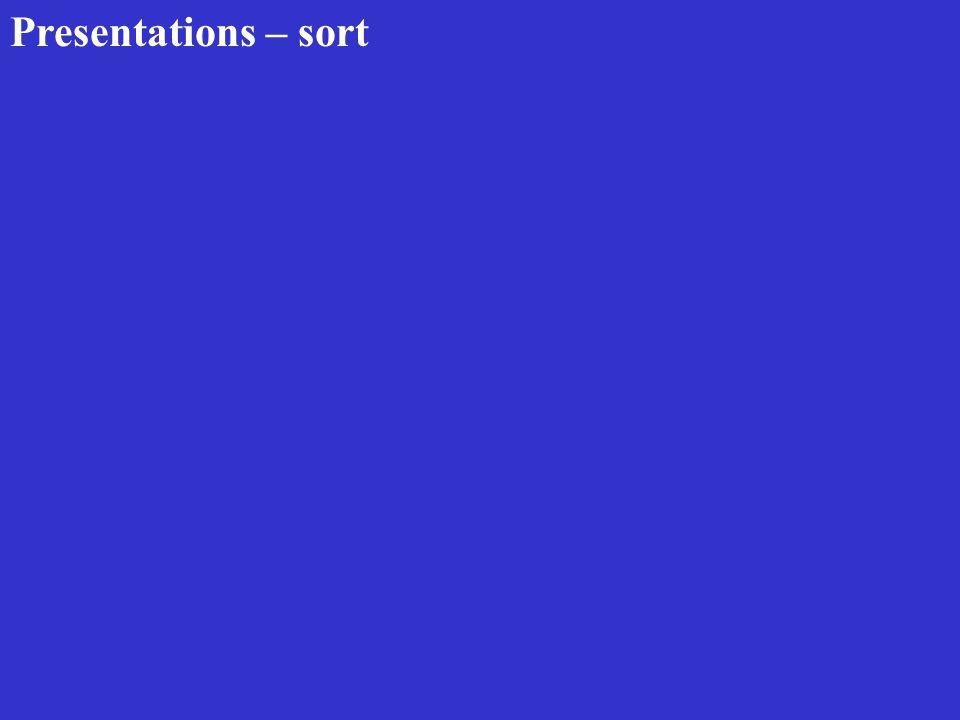 Presentations – sort