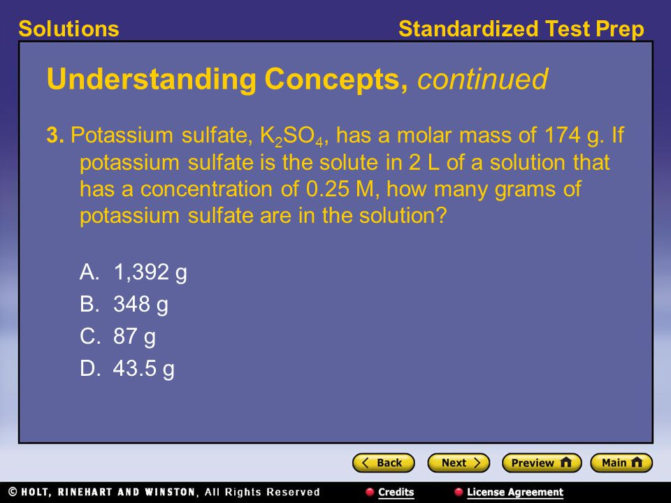 Standardized Test PrepSolutions Understanding Concepts, continued 3.