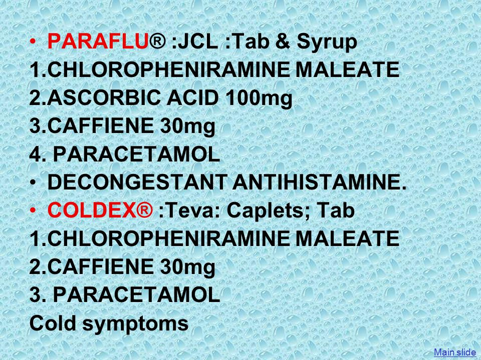 Drugs Caffeine: an ingredient in many analgesic drugs to enhance their effect & as CNS stimulant. Aspex ® Rekah Acetyl salicylic acid + Caffeine Pain,