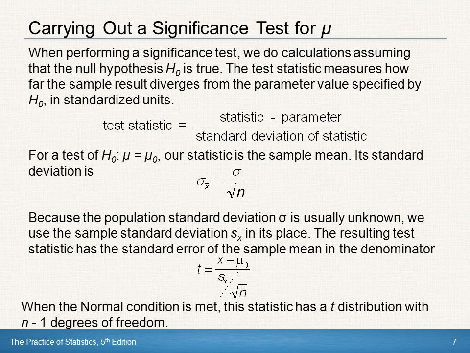 The Practice of Statistics, 5 th Edition38 Using Tests Wisely Beware of Multiple Analyses Statistical significance ought to mean that you have found a difference that you were looking for.