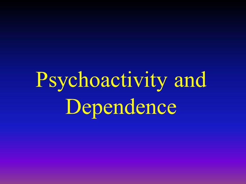 Psychoactivity and Dependence