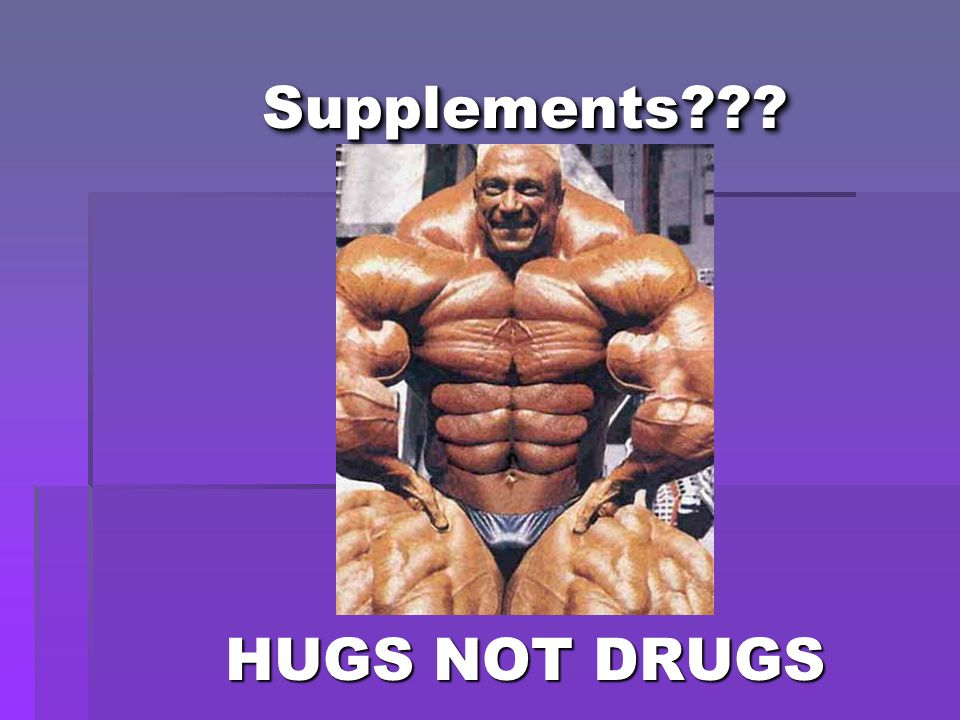 HUGS NOT DRUGS Supplements Supplements