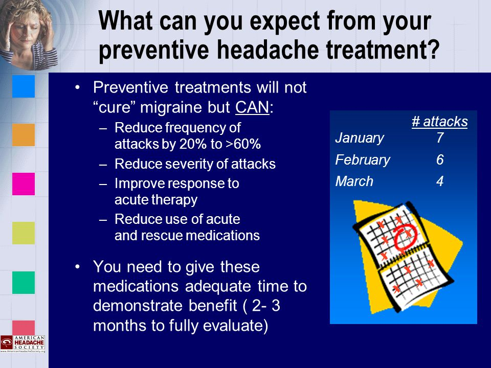 What can you expect from your preventive headache treatment.