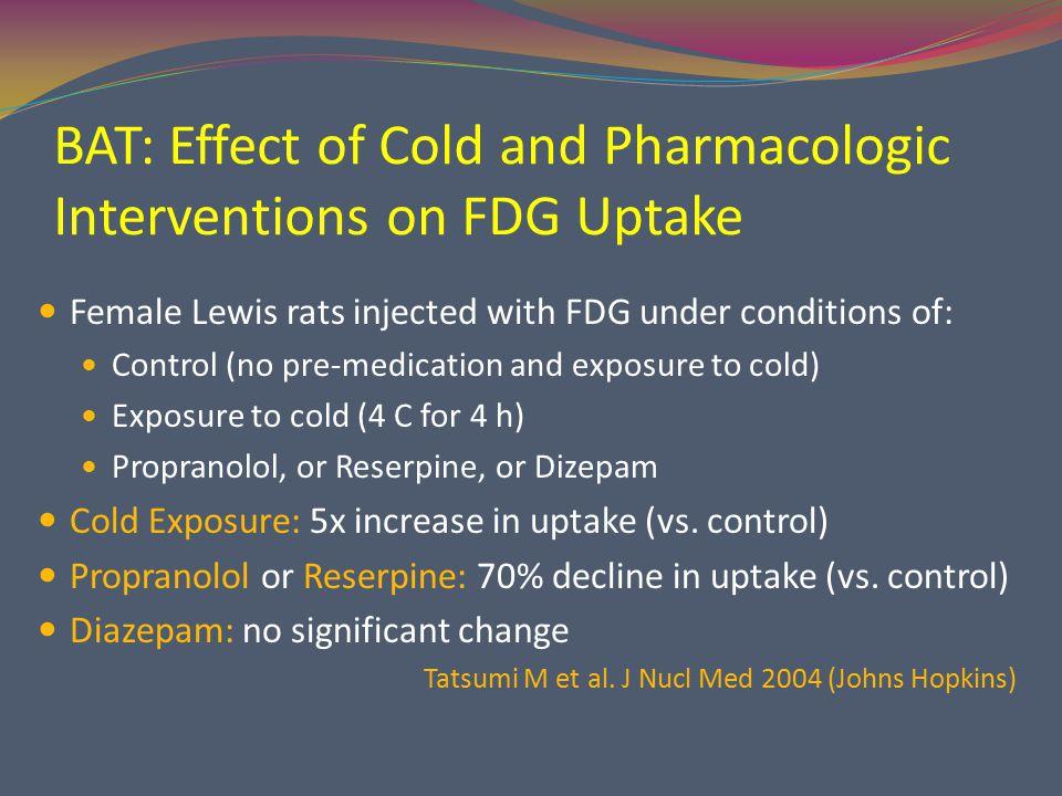 BAT: Effect of Fentanyl and Diazepam on FDG Uptake Gelfand MJ et al.