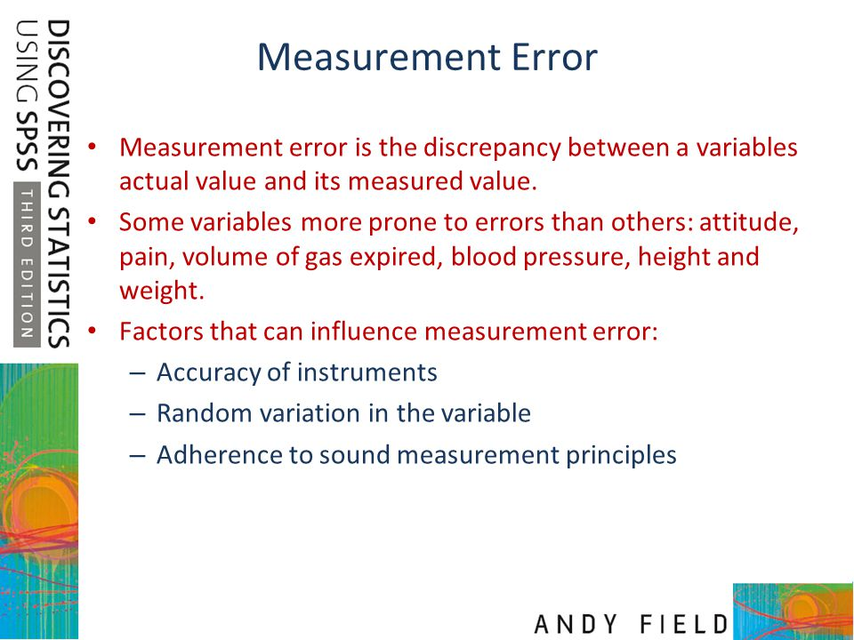 Measurement Error Measurement error is the discrepancy between a variables actual value and its measured value. Some variables more prone to errors th