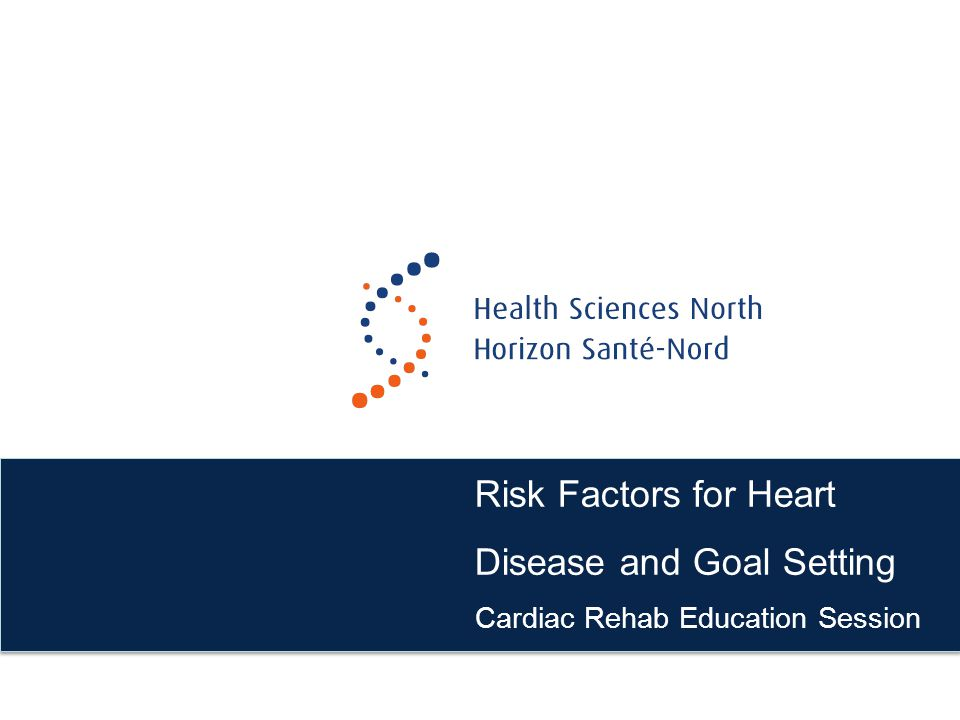 Risk Factors for Heart Disease and Goal Setting Cardiac Rehab Education Session