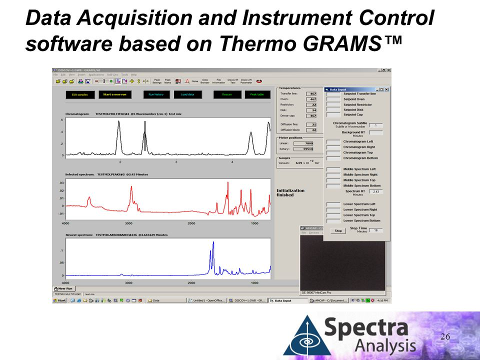 26 Data Acquisition and Instrument Control software based on Thermo GRAMS™