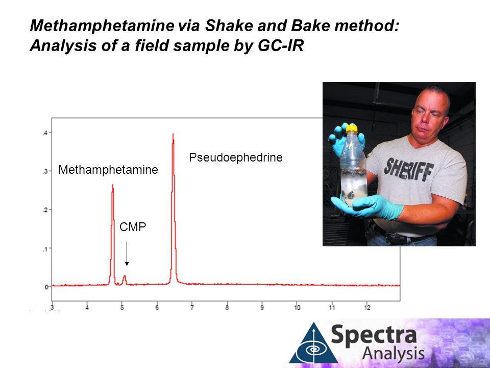 Methamphetamine via Shake and Bake method: Analysis of a field sample by GC-IR CMP Methamphetamine Pseudoephedrine