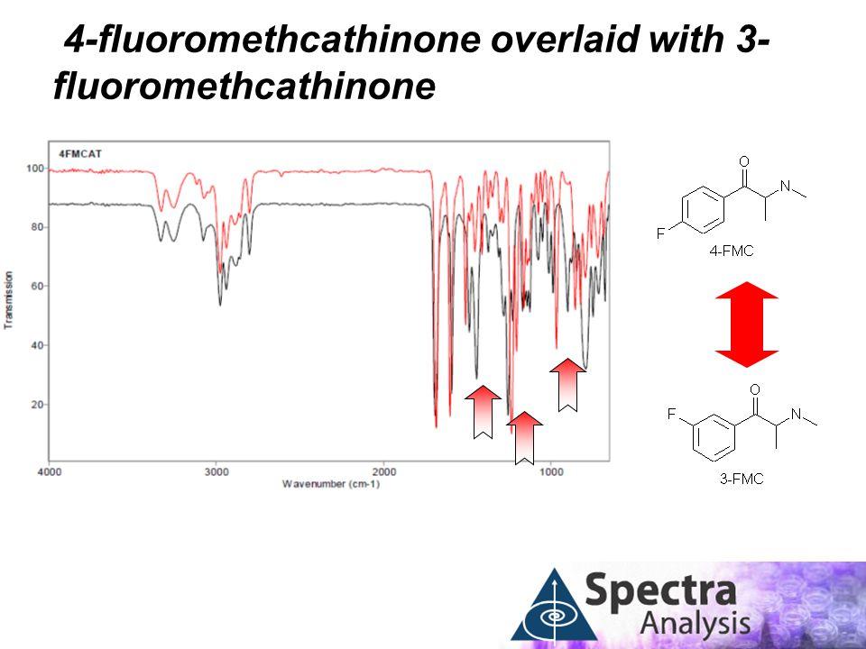4-fluoromethcathinone overlaid with 3- fluoromethcathinone