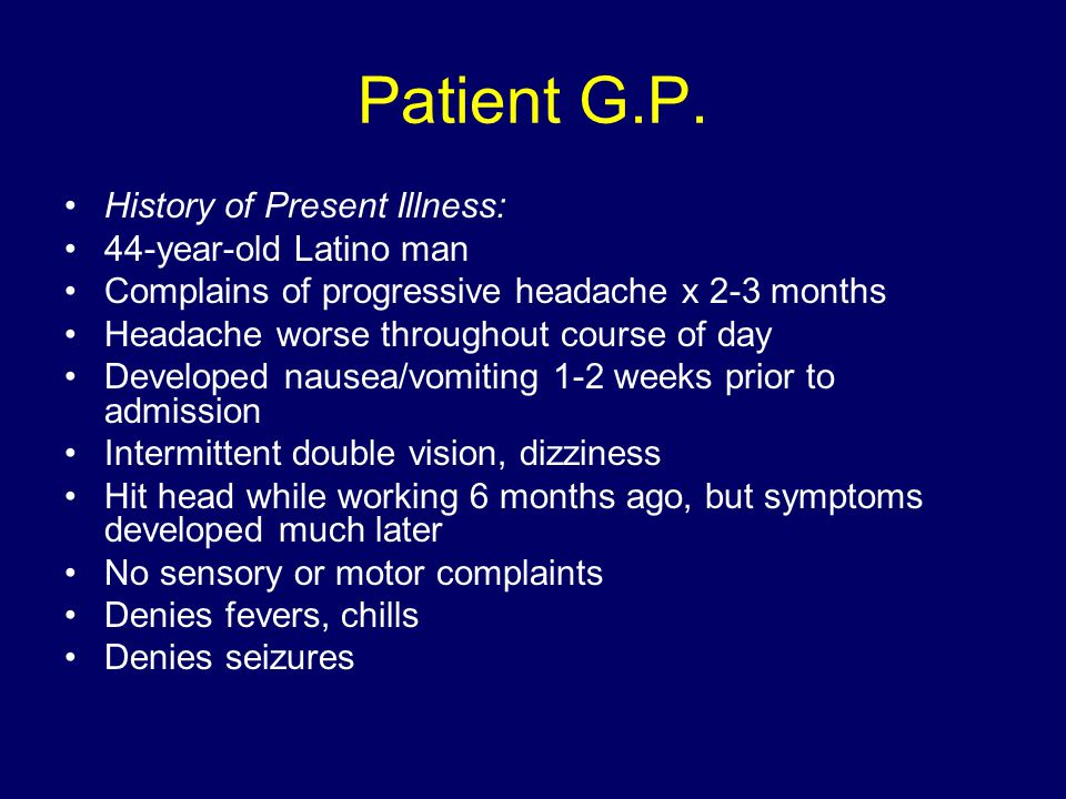 Patient G.P.